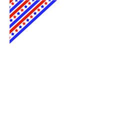 american flag ribbon in the corner frame vector image