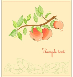 Apple tree postcard vector