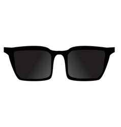 black sunglasses accessorie travel black vector image