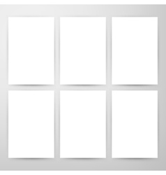 Blank Posters Mockup Template vector image