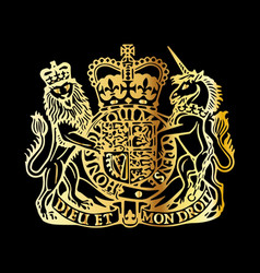 british coat of arms vector image