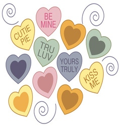 Candy Hearts vector