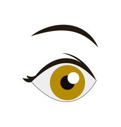 cartoon eye look eyebrow human image vector image