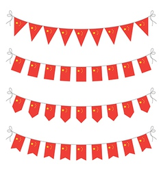 Chinese bunting vector