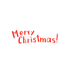 Christmas lettering and calligraphy design vector