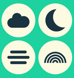 Climate icons set collection of moon haze vector