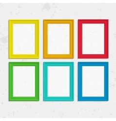 Colorful photo frames vector