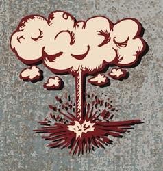 comic Explosion bomb vector image