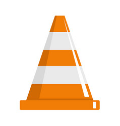 cone icon flat style vector image