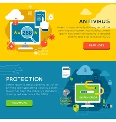 Data Protection Banner Set vector