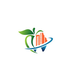 dental building logo template vector image