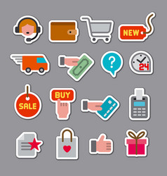 e-commerce shop stickers vector image
