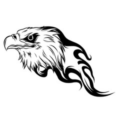 eagle head in outline style vector image