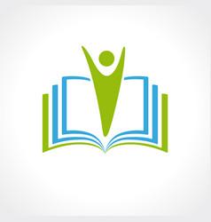 education logo open book concept vector image