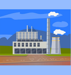 Factories and enterprises industry manufacturing vector