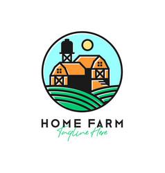 farmhouse green scenery inspiration logo vector image