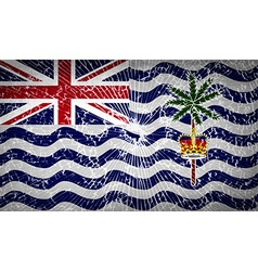 Flags British Indian Ocean Territory with broken vector