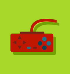 Flat icon design playing joystick in sticker style vector