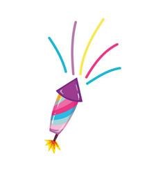 Funny firework object t festival celebration vector