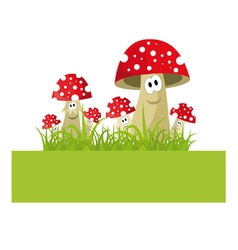 funny mushrooms vector image