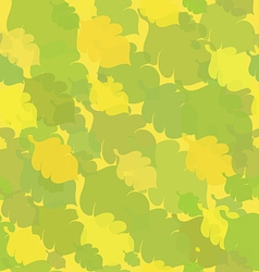 Green-Yellow Seamless with Oak Leaves vector image