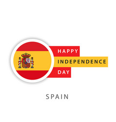 Happy spain independence day template design vector