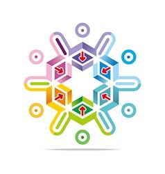 Hexa house arrow design icon symbol star vector