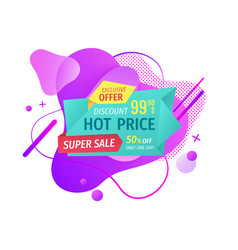 hot price and super sale reduction cost vector image
