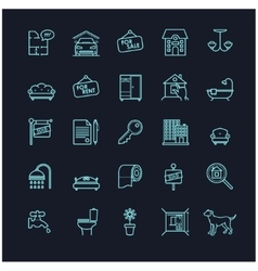 house and real estate stock icons vector image