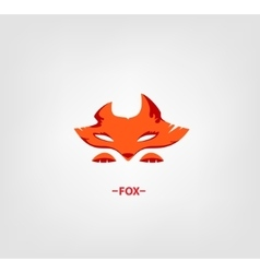 Image of an fox head on white background vector