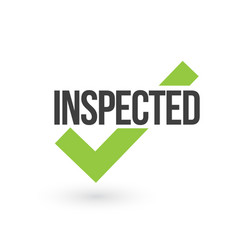 Inspected check mark isolated on white background vector