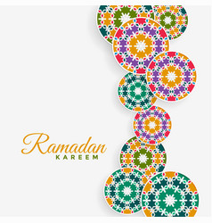 Islamic pattern decoration ramadan kareem vector