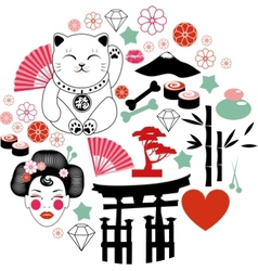 Japan pattern vector image