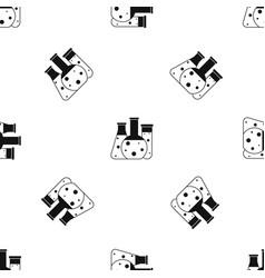 laboratory flasks pattern seamless black vector image