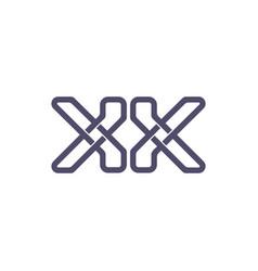 letter kk lines art design logo vector image