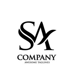 letter s and a logo design vector image