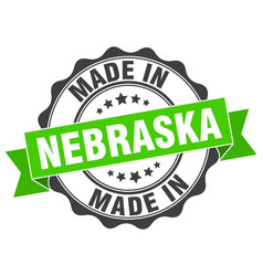 Made in nebraska round seal vector