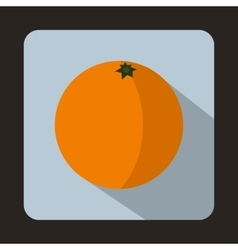 Mandarin icon in flat style on a light vector