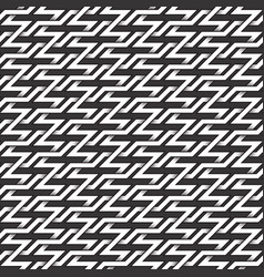 monochrome seamless pattern of zigzag twisted vector image