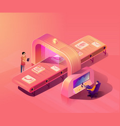 Personal data security scanning concept vector