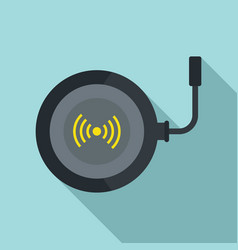 Phone wireless charger icon flat style vector