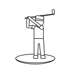 Player golf related icon image vector