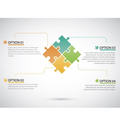 Puzzle piece infographics business vector