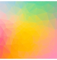 Rainbow colorful composition with triangle shapes vector image