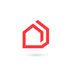real estate house logo icon design template vector image