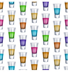 realistic detailed 3d shot glasses seamless vector image