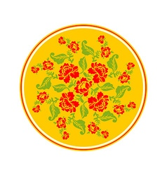 Russian national pattern Hohloma Retro Floral vector image