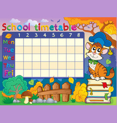School timetable composition 4 vector