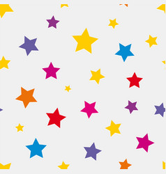 seamless background with colored stars vector image