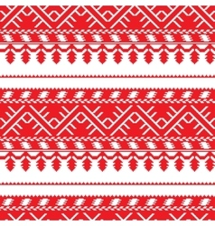 seamless pattern with old ethnic belarusian ornate vector image